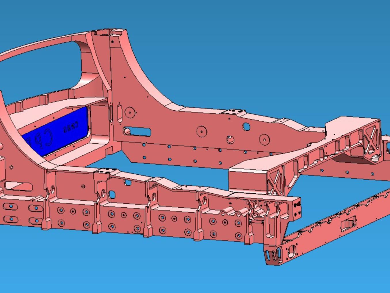 Usinage d'un chassis en ALU